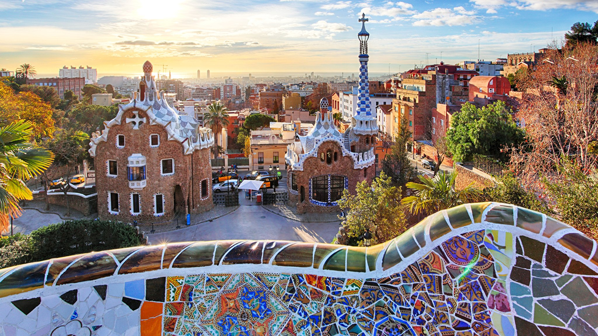 Free Download Images Barcelona Spain Park Guell Parks Cities