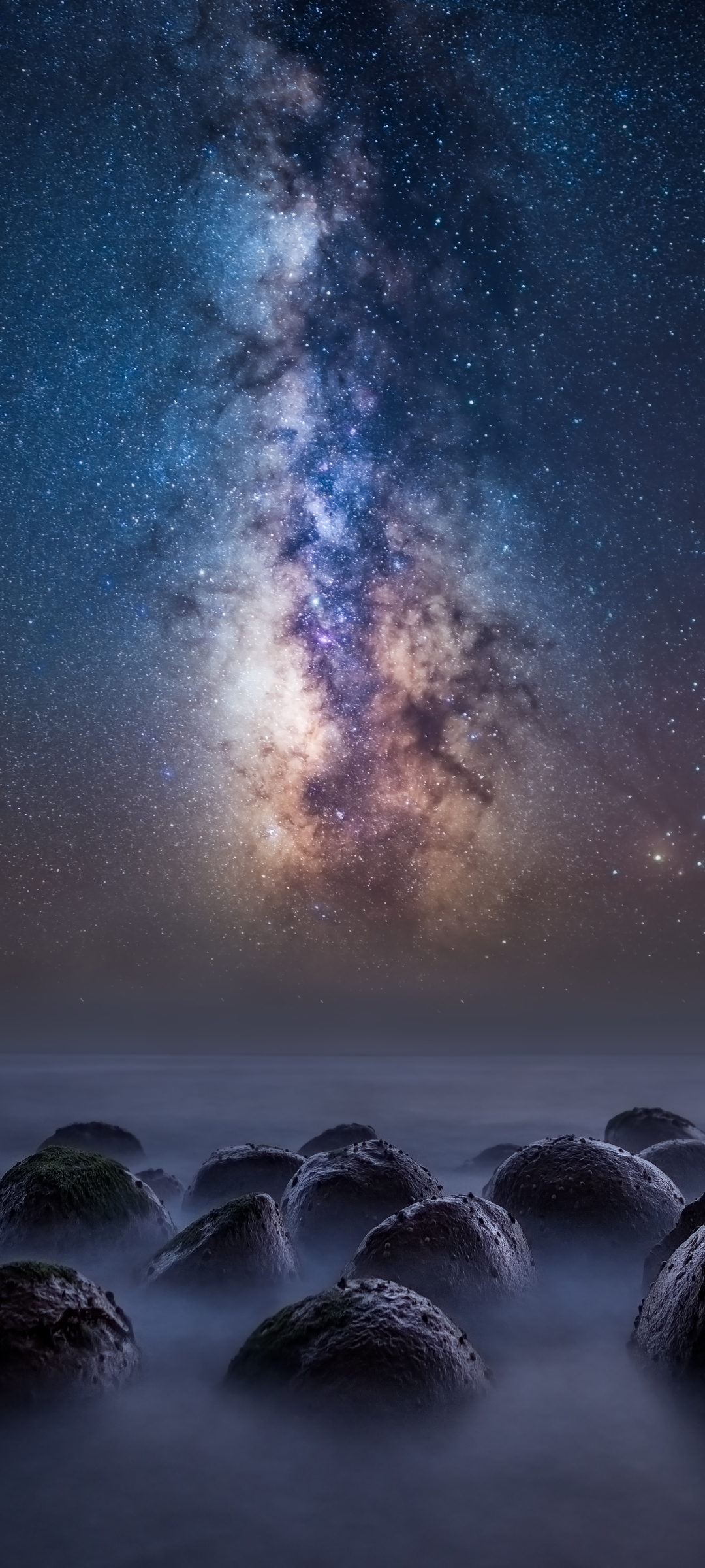 1080x2400 Milky Way Over the Bowling Ball Beach 1080x2400 1080x2400