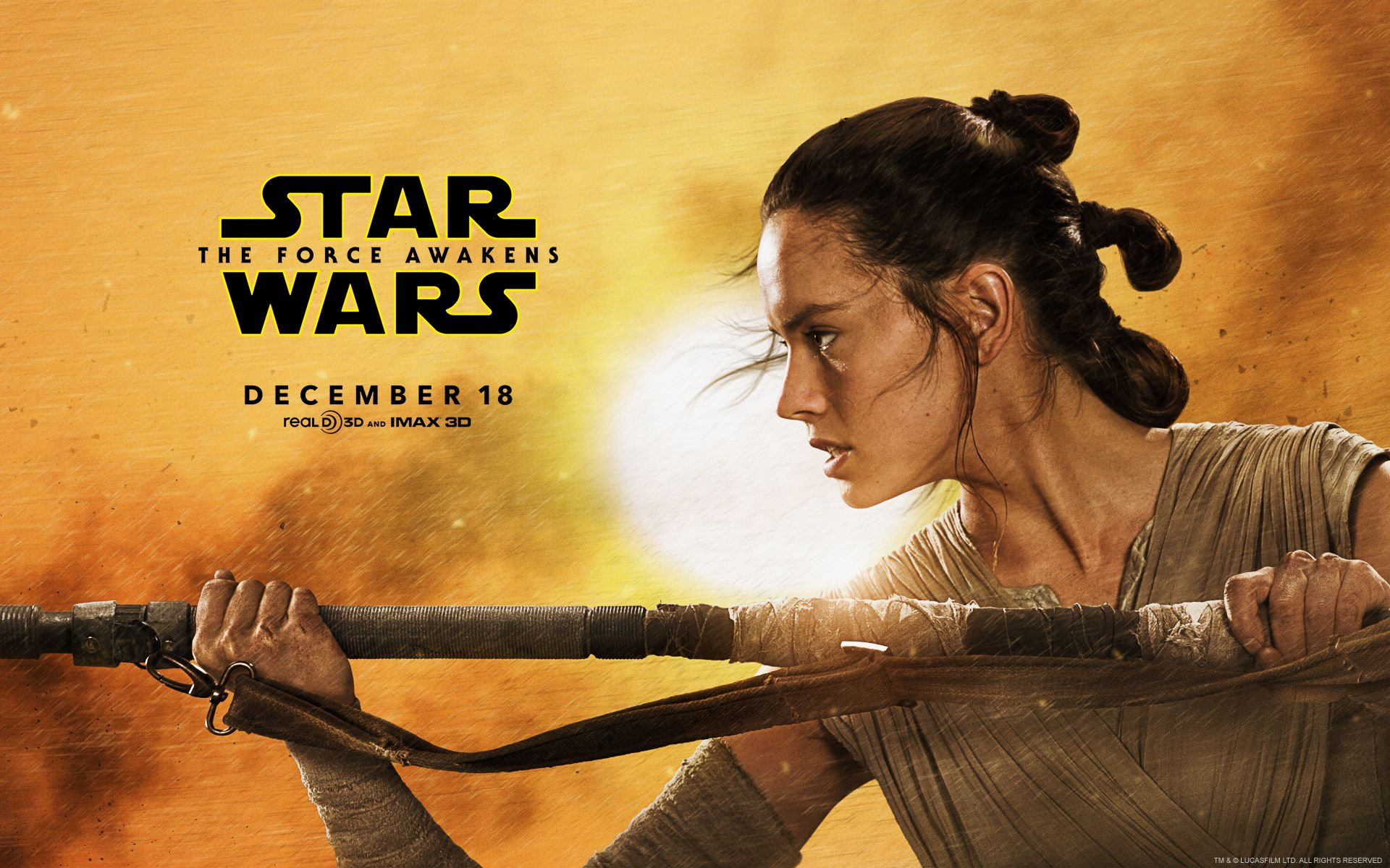 Ridley as Rey Star Wars The Force Awakens Live HD Wallpapers 1920x1200