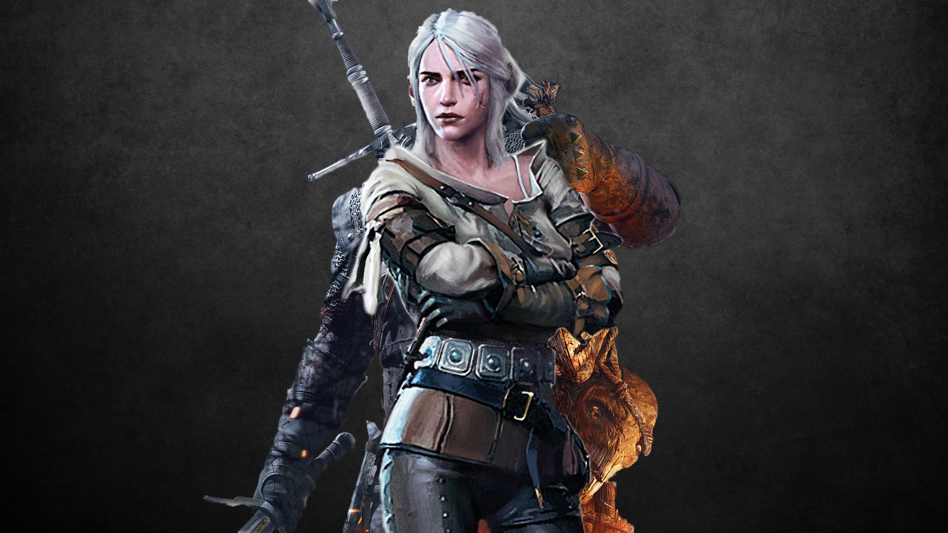 Geralt Ciri Combo 1080p Wallpaper Made By me   Feedback Greatly 1920x1080