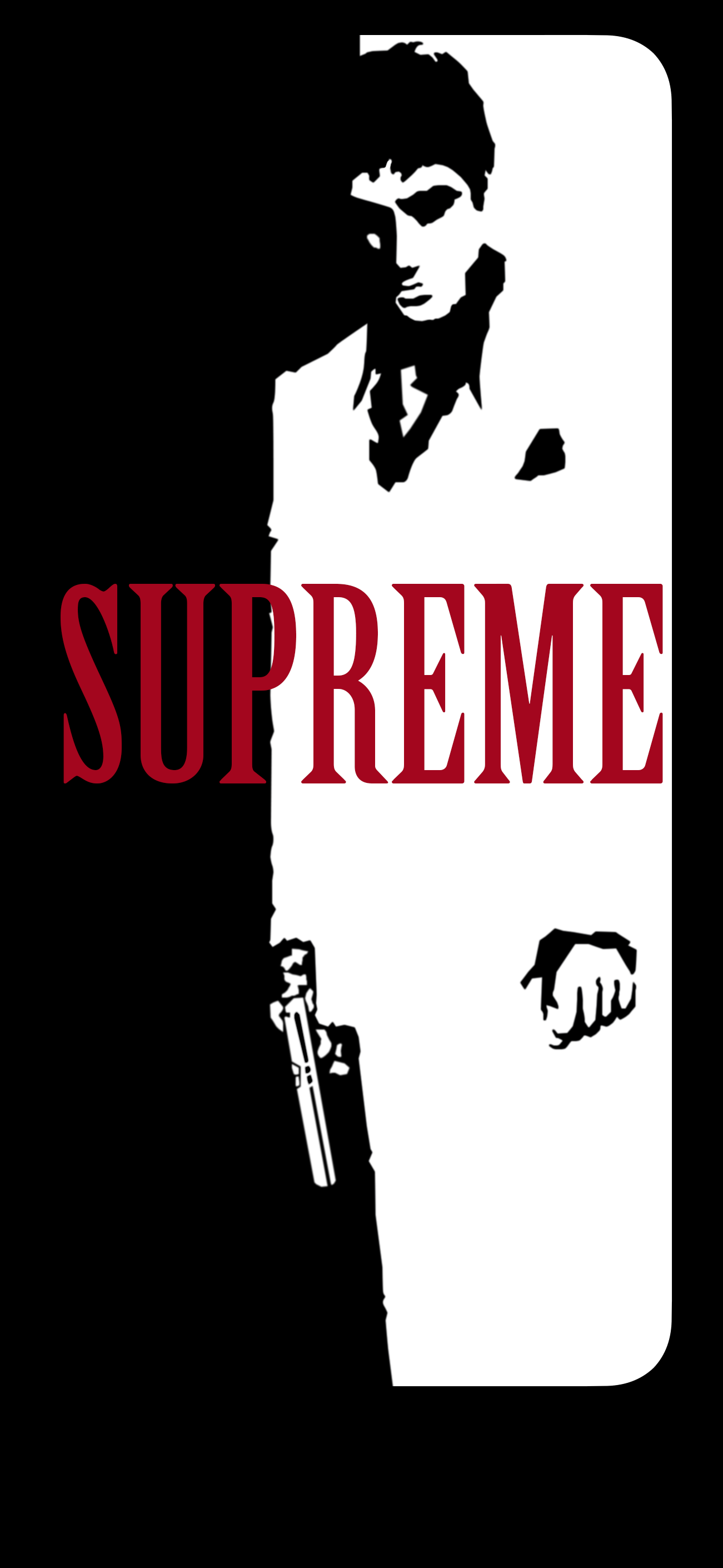 Supreme X Scarface Wallpaper iphonexwallpapers 1301x2820