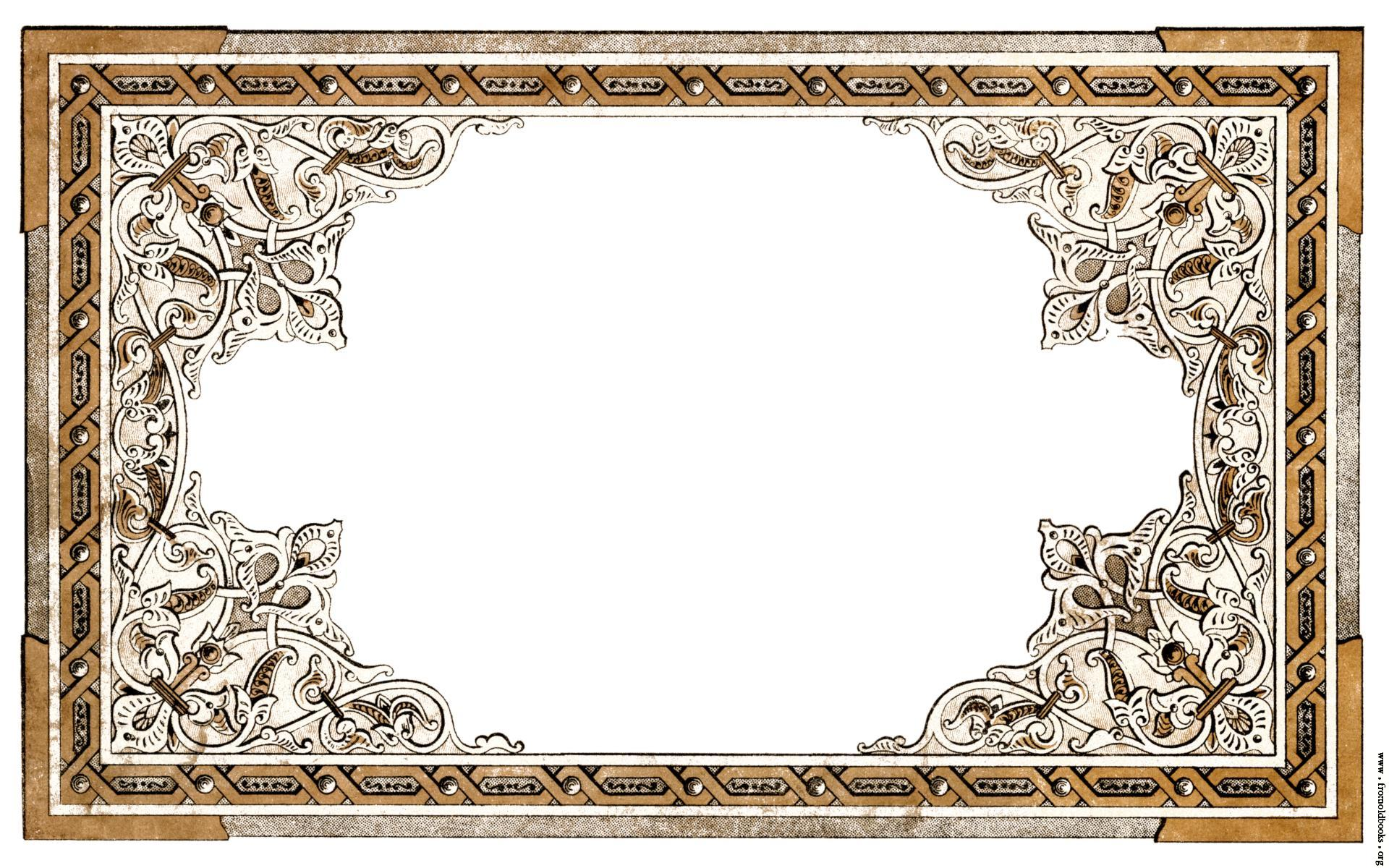 Vintage shabby chic ornate full page border 1920x1200