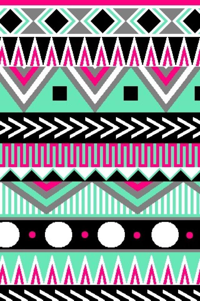Multi color Aztec Cute wallpapers CocoPPa Pinterest 640x960