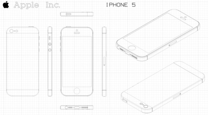 Iphone 5 Illustrator Template Vector iphone 5 mockup ai 697x385