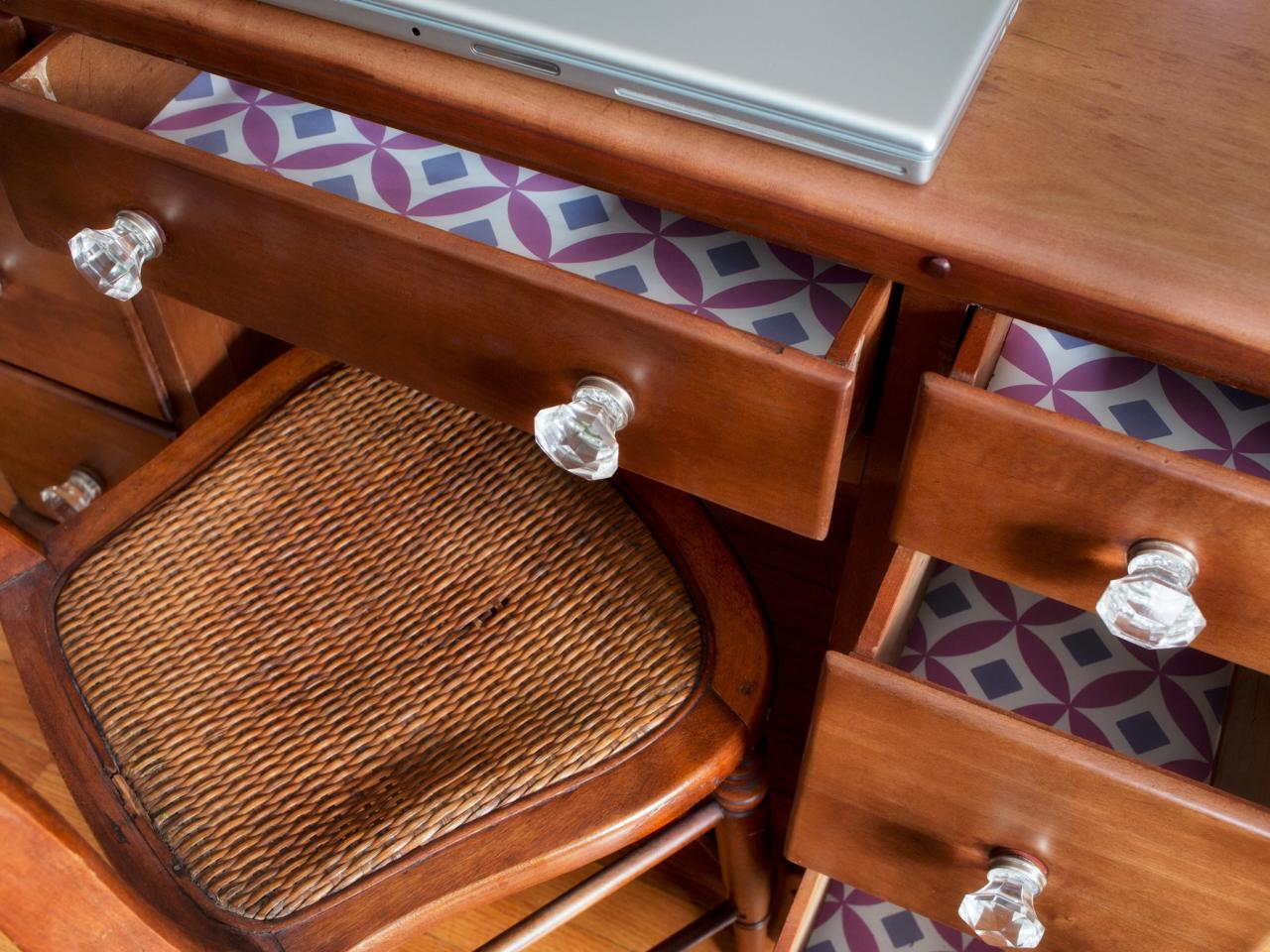 How to Update a Dresser With Wallpaper and Decorative Knobs HGTV 1280x960