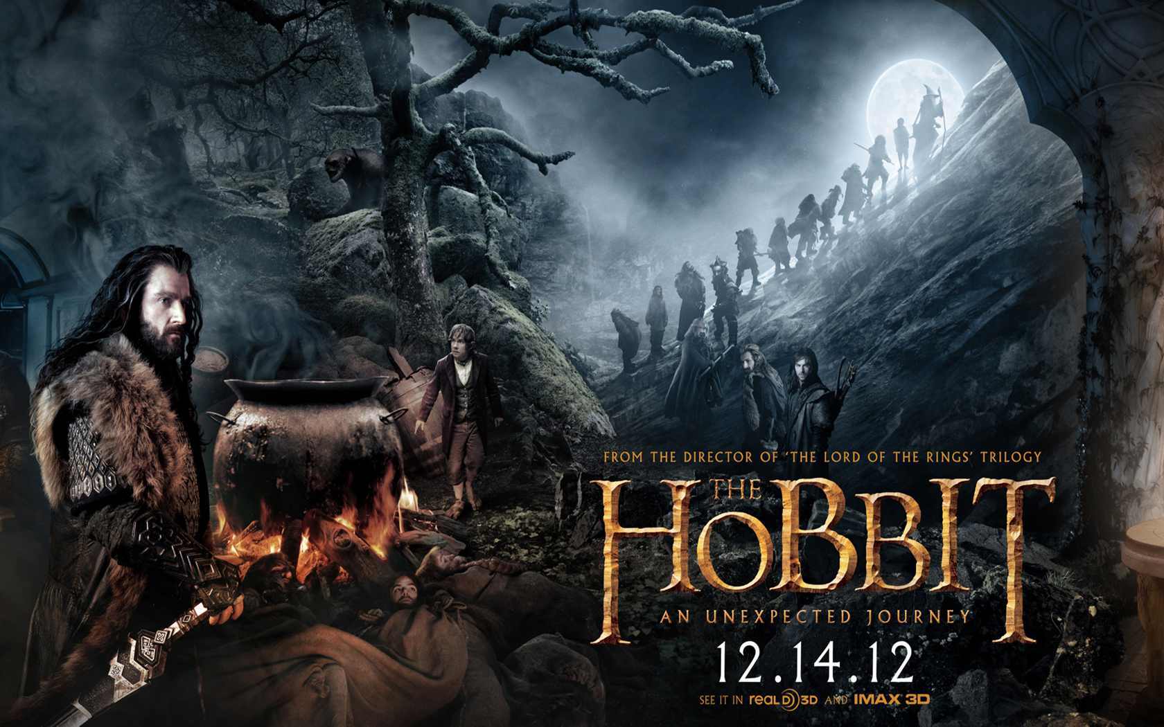 New wallpapers from quotThe Hobbit An unexpected journey 1680x1050