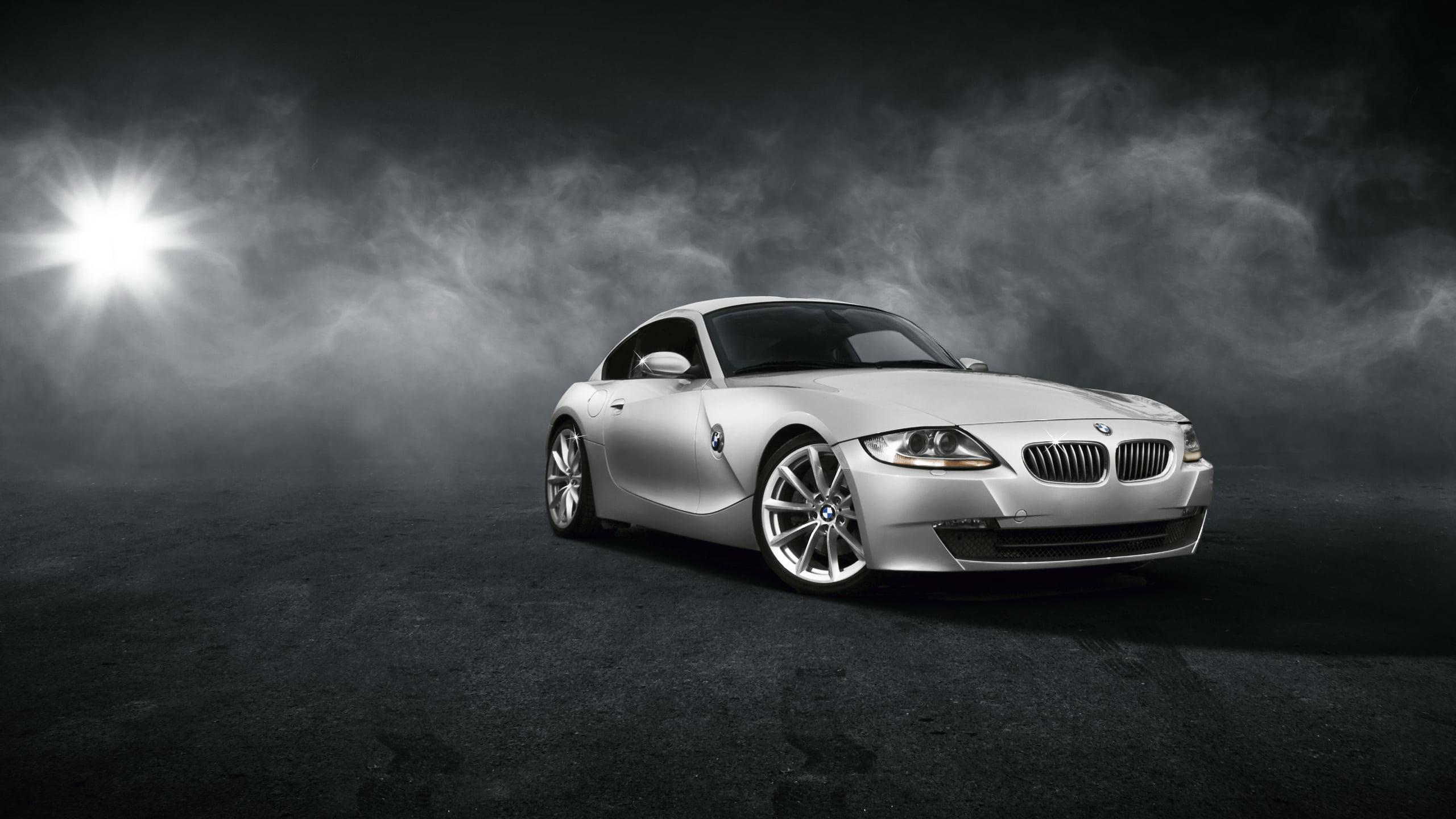 Silver BMW 1M HD wallpaper Wallpaper Flare 2560x1440