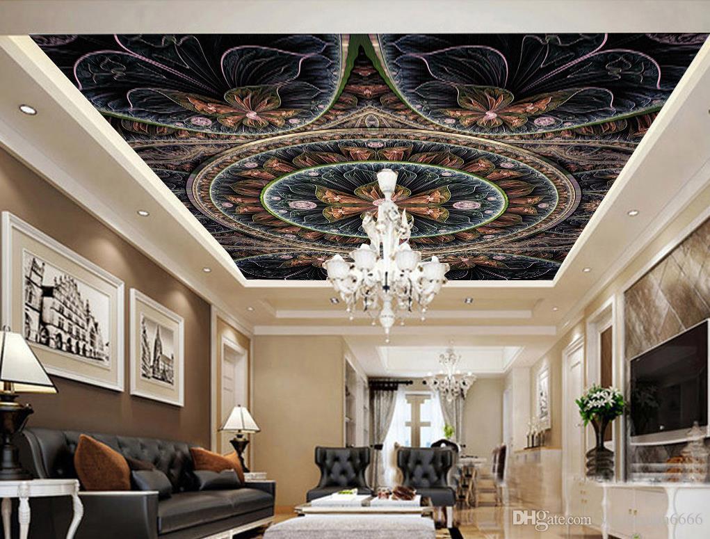 Compre 3d Ceiling European Art Wallpaper Dormitorio Flores 1021x775