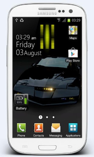 View bigger   Knight Rider Live Wallpaper for Android screenshot 307x512