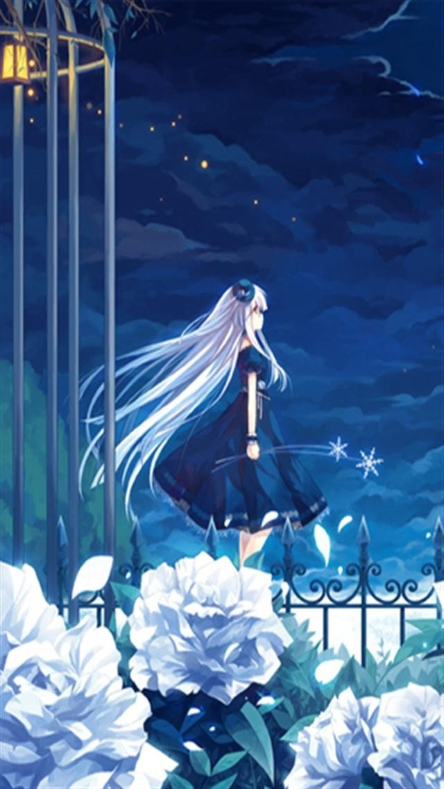 Blue Anime HD iPhone Wallpapers iPhone 5s4s3G Wallpapers 640x1136