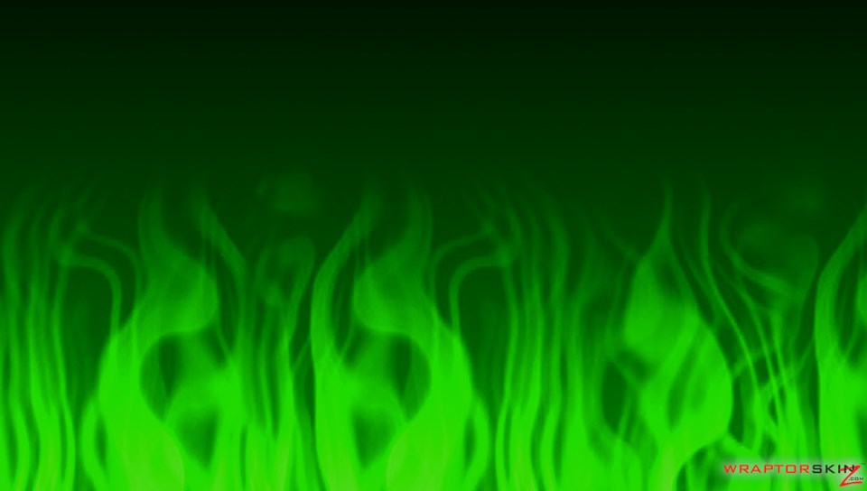 Fire Green   Decal Style Skin fits Sony PS Vita 960x544