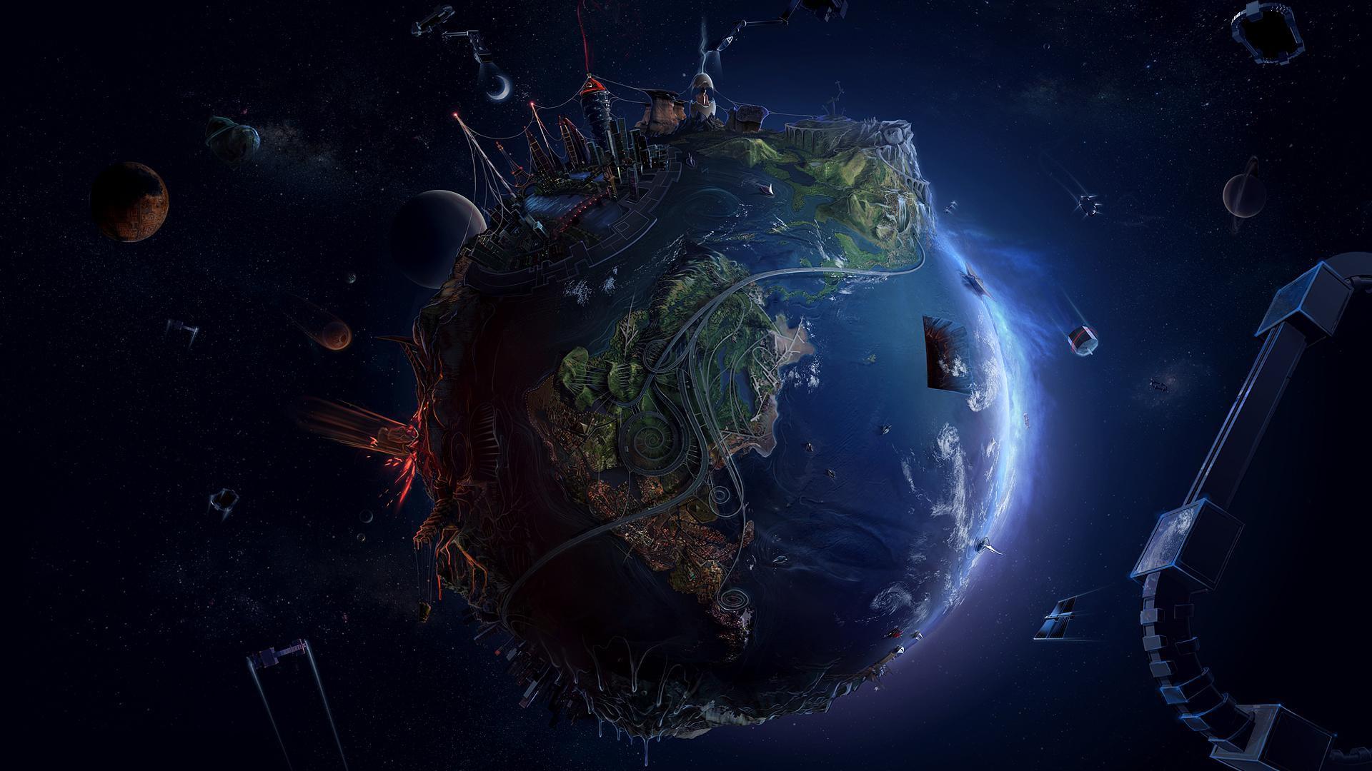 funmozar 3d earth wallpapers