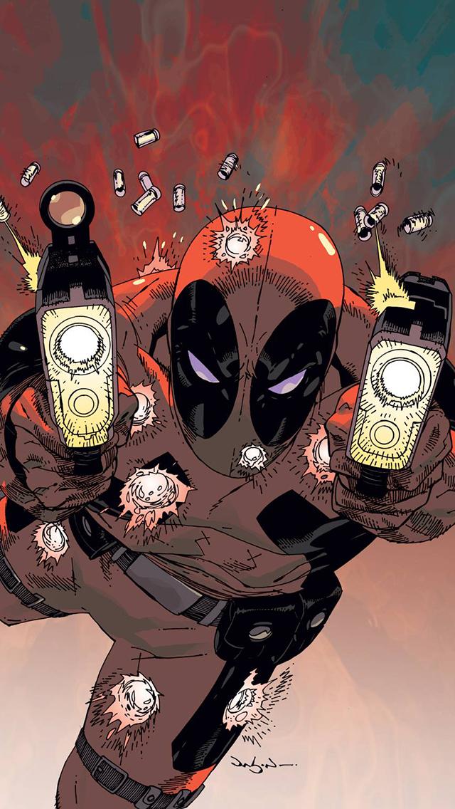 Deadpool Iphone 5 Wallpaper Hd Diving deadpool wallpaper 640x1136