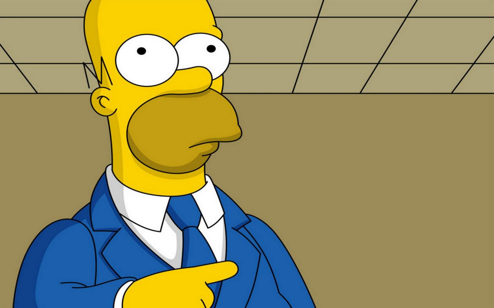 Homer Simpson Funny HD Wallpapers 1600x1000