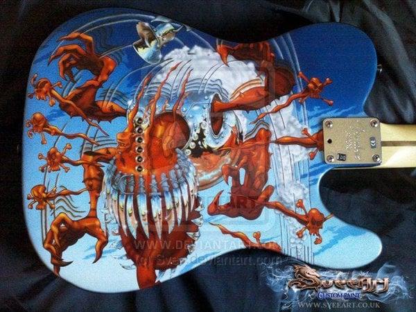Appetite for Destruction Fender Telecaster Rear by Svee 600x450