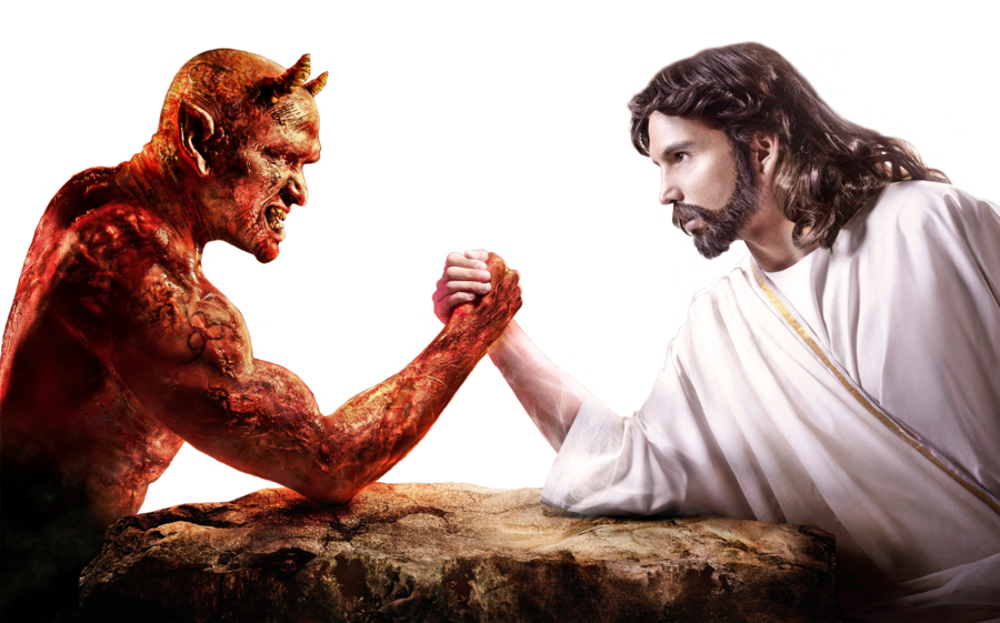 God vs Satan png by Shadow of Nemo 900x561
