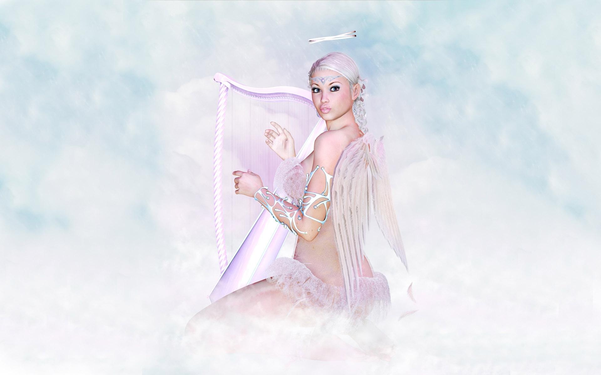 Angels Wallpapers For Desktop 3d: 3D Angels Wallpaper
