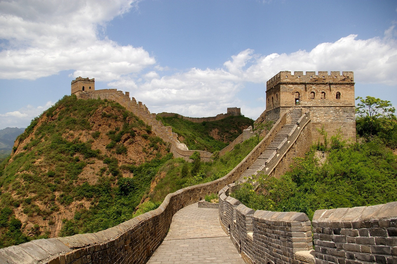 Modern Wonders Of The World Great Wall of China Travel Around 1504x1000