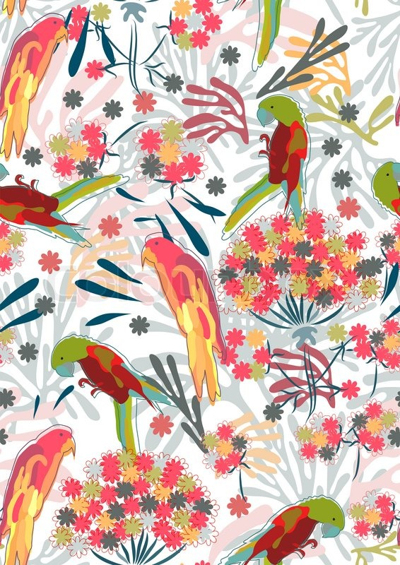 pattern with flowers and birds can be used for wallpaper pattern 566x800