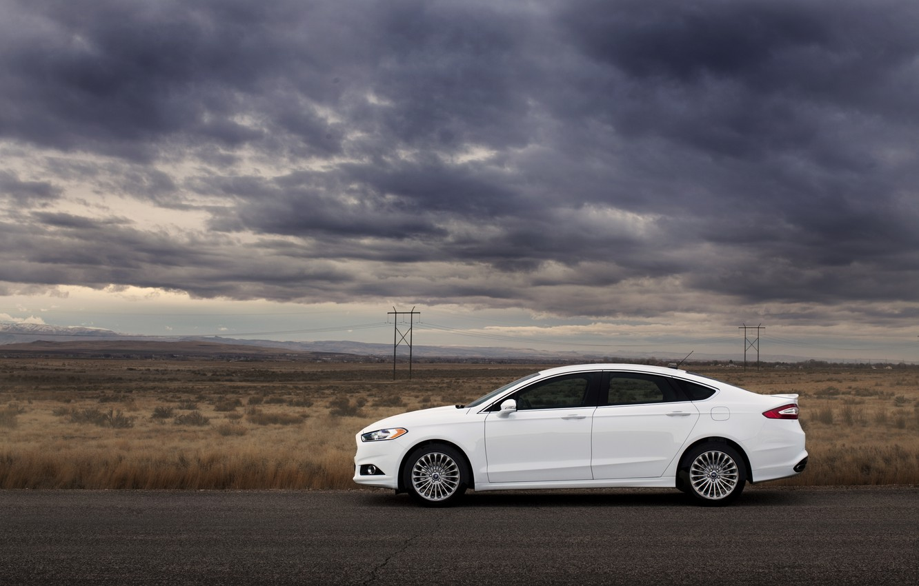 Wallpaper road clouds the steppe Ford Ford mondeo Mondeo 1332x850