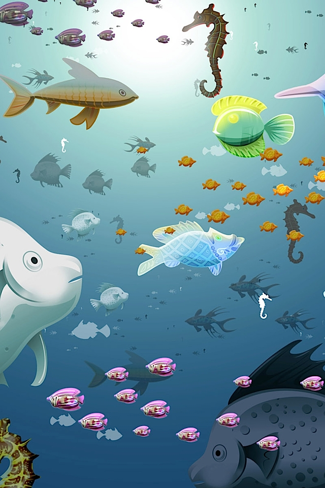 Cute Fish iphone 4S wallpaper 640x960 iPhone 4s Wallpapers iPhone 640x960