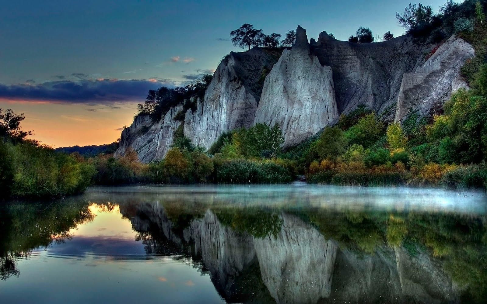 Great Hd Nature Mountain River Wallpaper Desktop Background 1600x1000