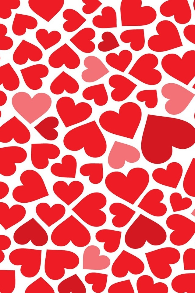 Red Hearts iPhone HD Wallpaper iPhone HD Wallpaper download iPhone 640x960