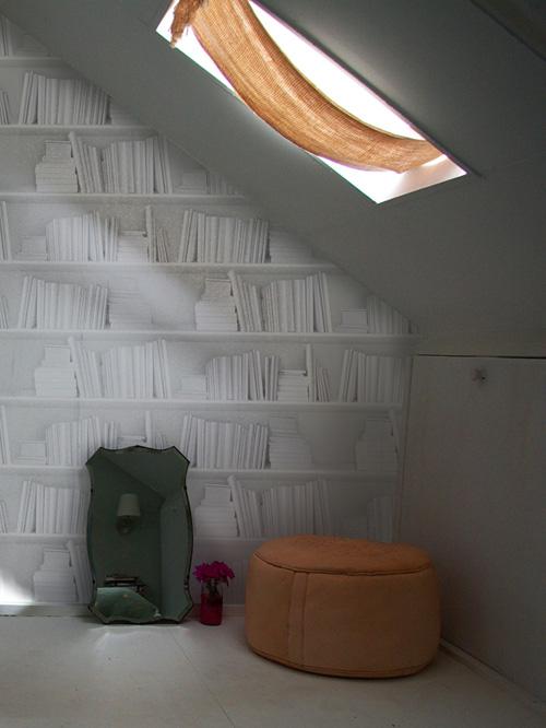 Cozy Feel With Wallpapers white bookshelf wallpaper mineheart 500x666