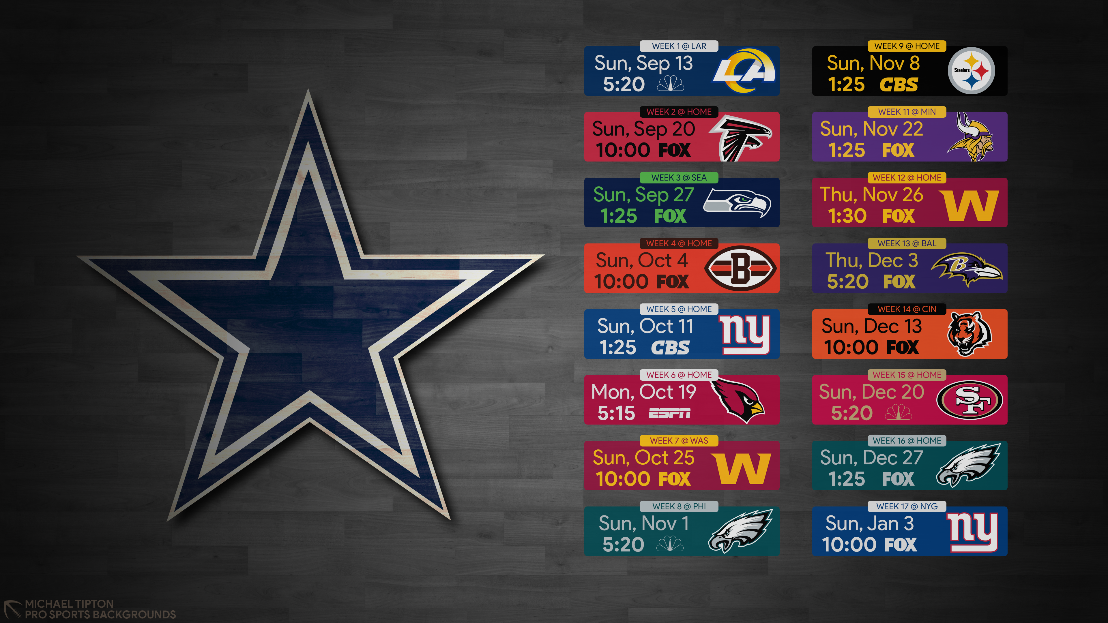 2020 Dallas Cowboys Wallpapers Pro Sports Backgrounds 3840x2160