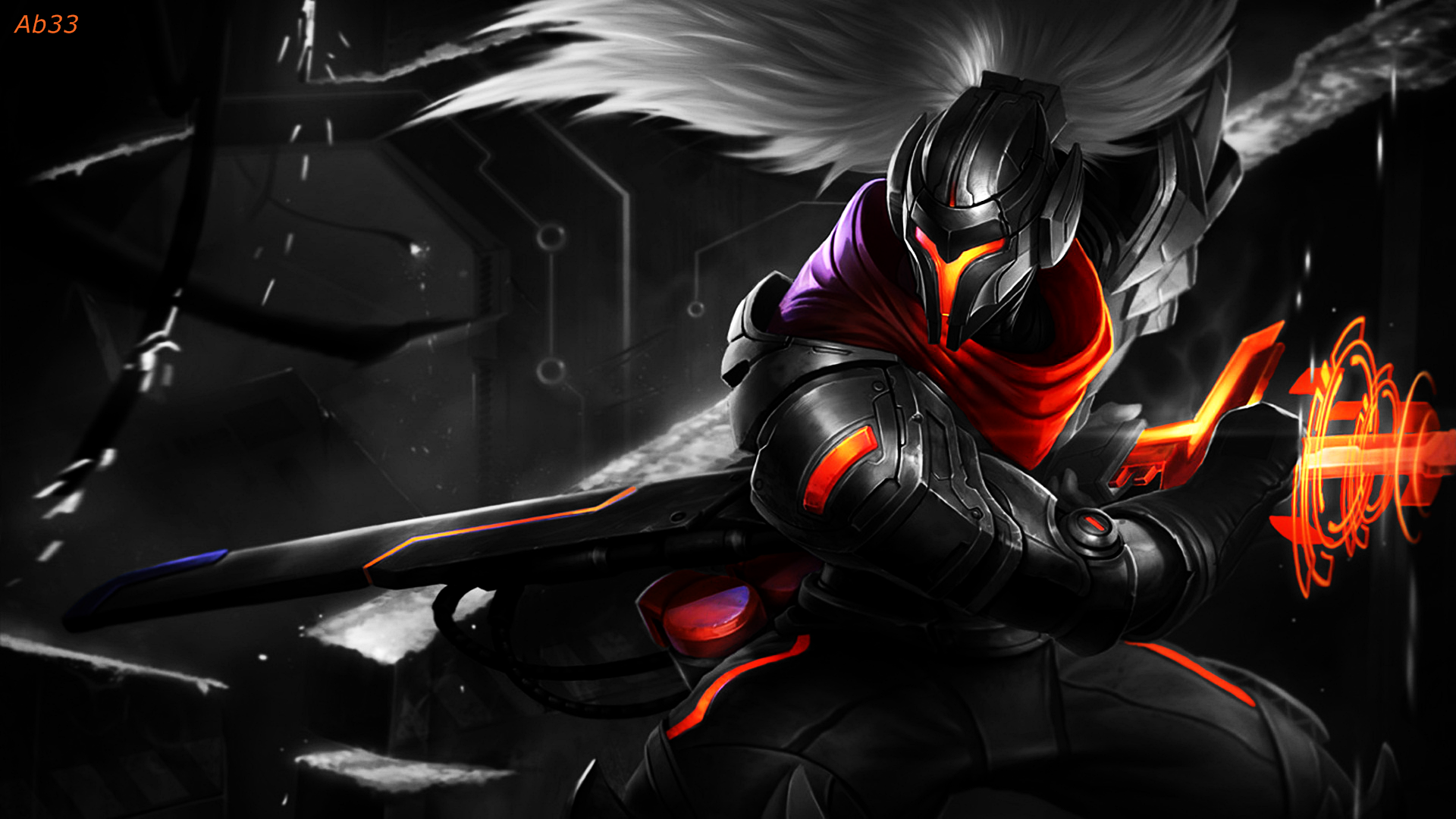 Creation Hd Wallpaper 1920x1080 League of legends Project sword Yasuo 1920x1080