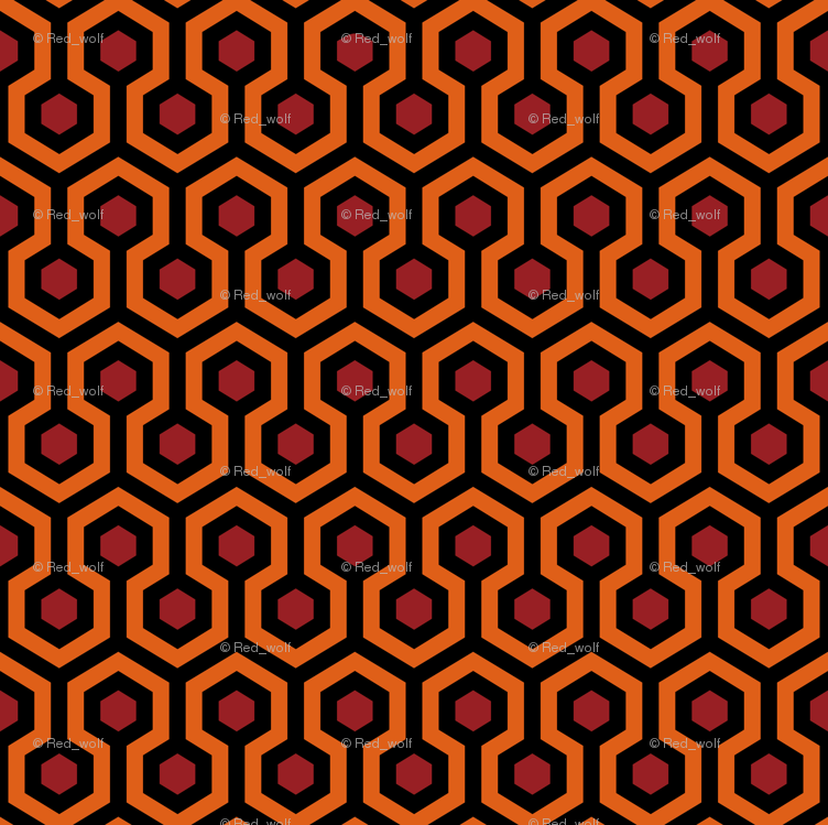 Overlook Hotel Carpet from The Shining OrangeRed wallpaper 752x749