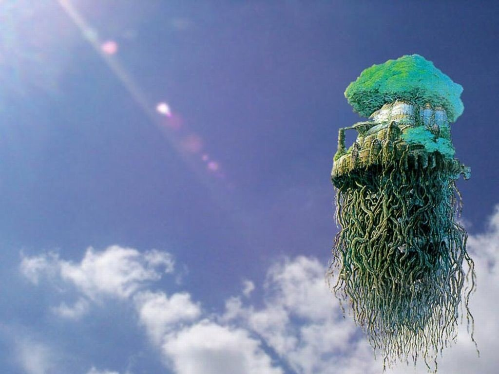 49 Castle In The Sky Wallpaper On Wallpapersafari