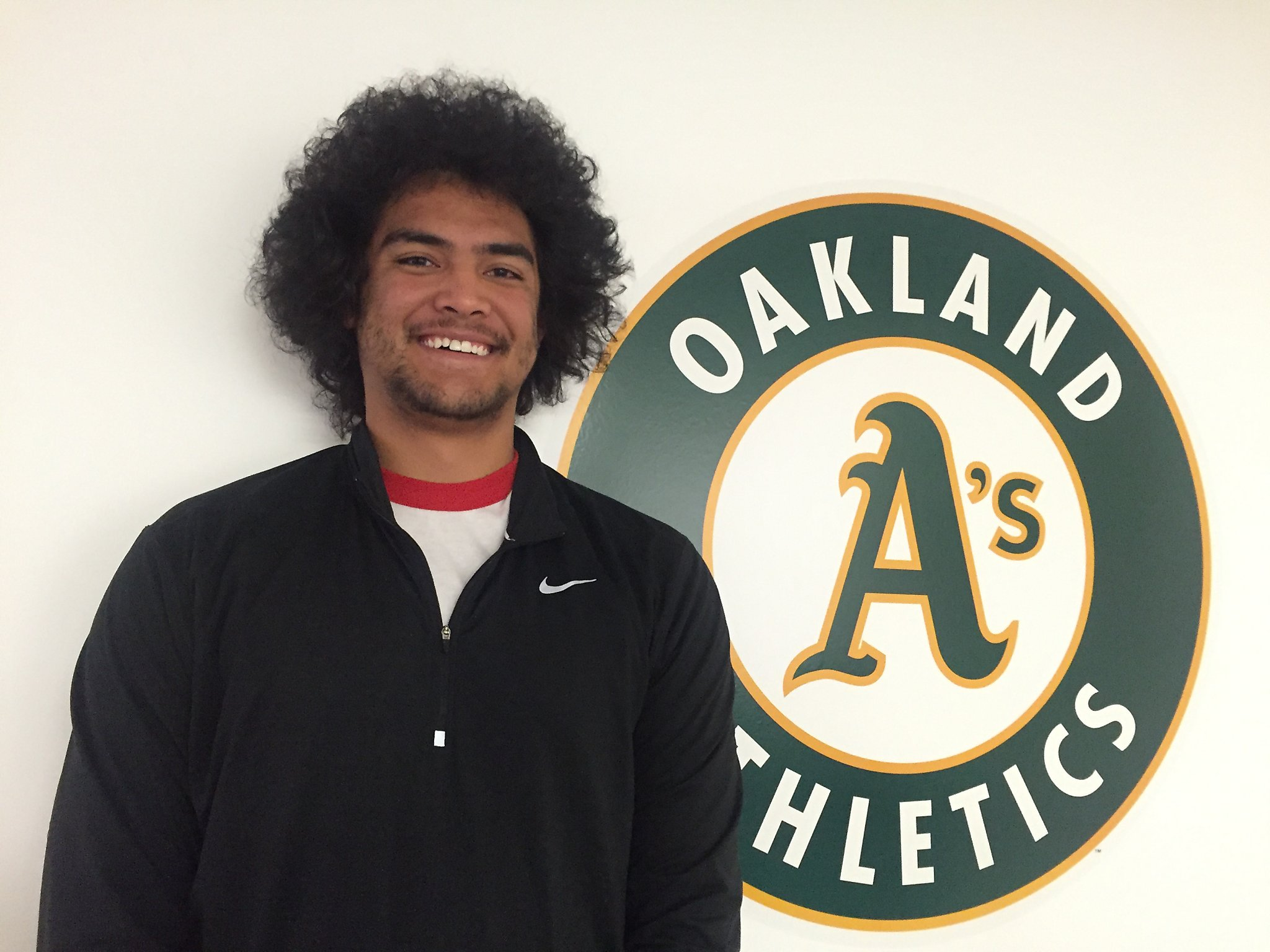 As top prospect Sean Manaea has tons of talent fun and hair   SFGate 2048x1536