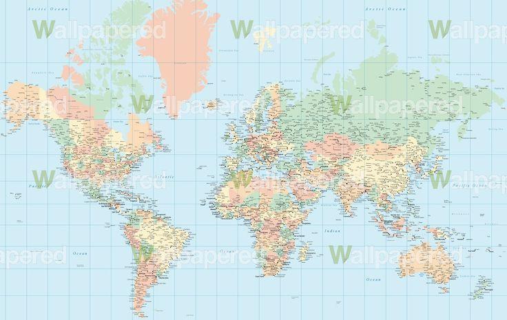 World map wallpaper for home wallpapersafari for Home wallpaper world map