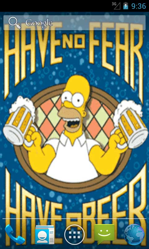 Free download Download Homer Simpson Live Wallpapers apps