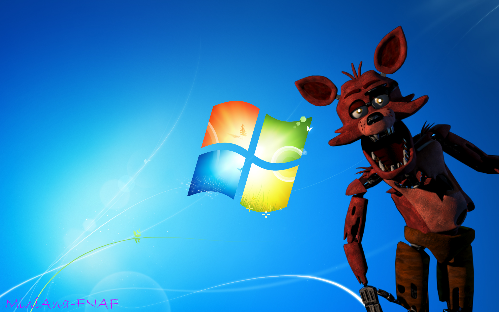 FNAF WALLPAER Foxy the fox Windows 7 by MiniAna Fnaf 1920x1200