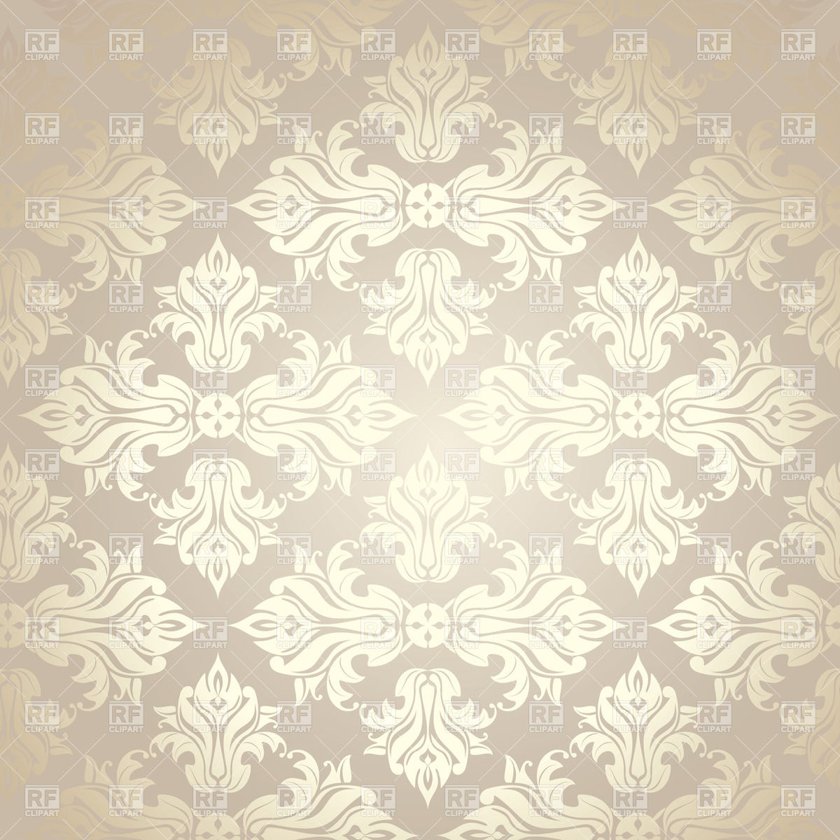 Seamless grey damask wallpaper Vector Image of Backgrounds 1200x1200
