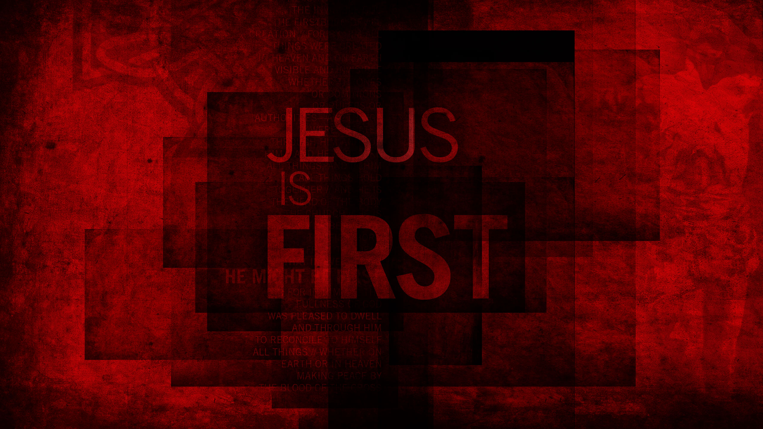 Jesus is First Wallpaper 1 Wawasee Bible 2560x1440