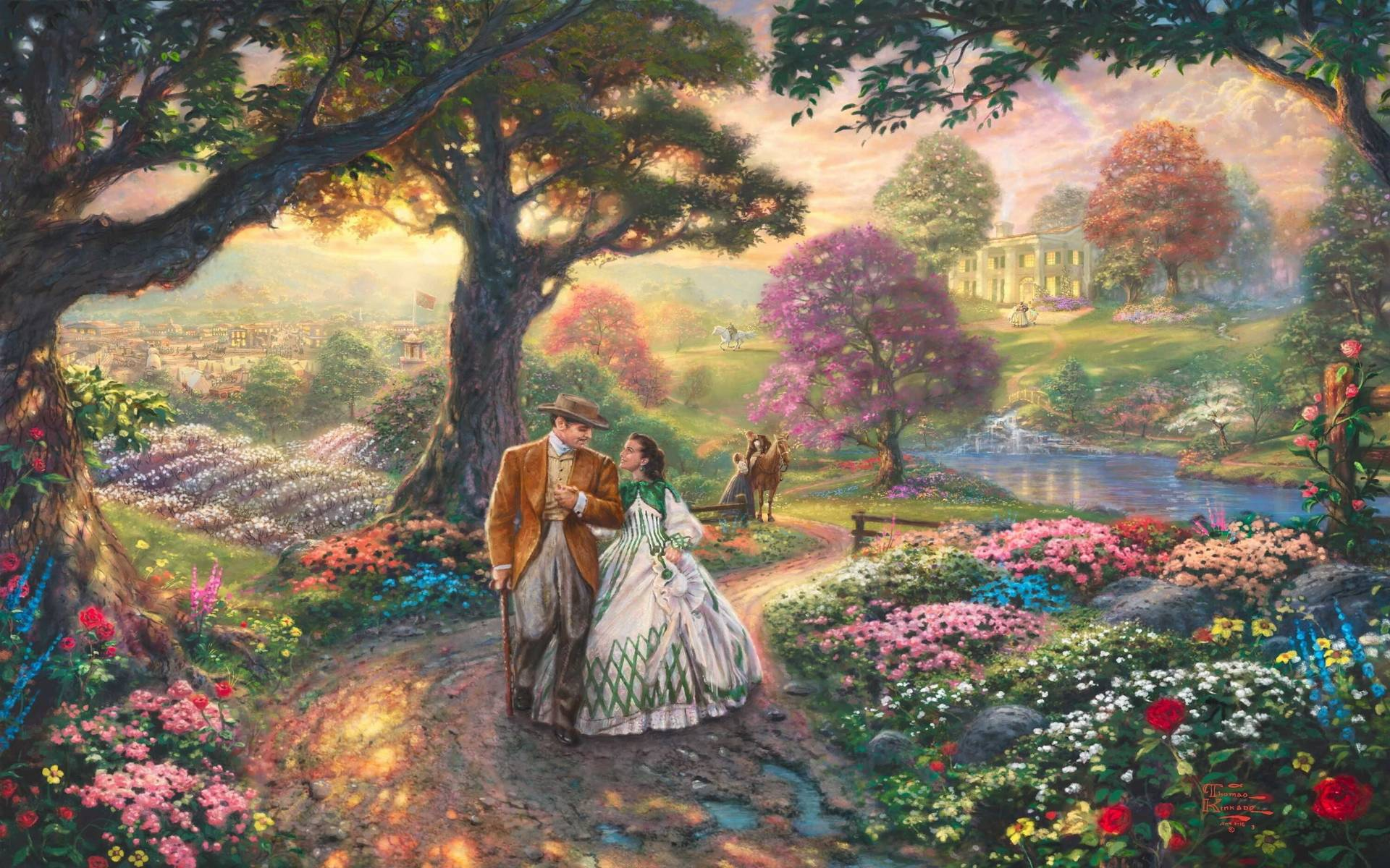 Thomas Kinkade Disney Images amp Pictures   Becuo 1920x1200