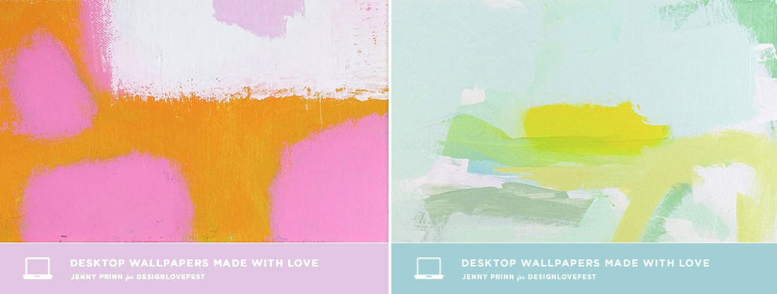 Abstract wallpaper by Jenny Prinn from Design Love Fest 1100x417