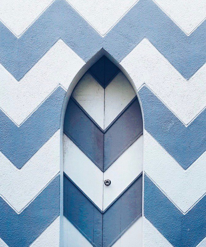 Yale Home on Twitter Chevron on wallpaper is one thingbut 670x802
