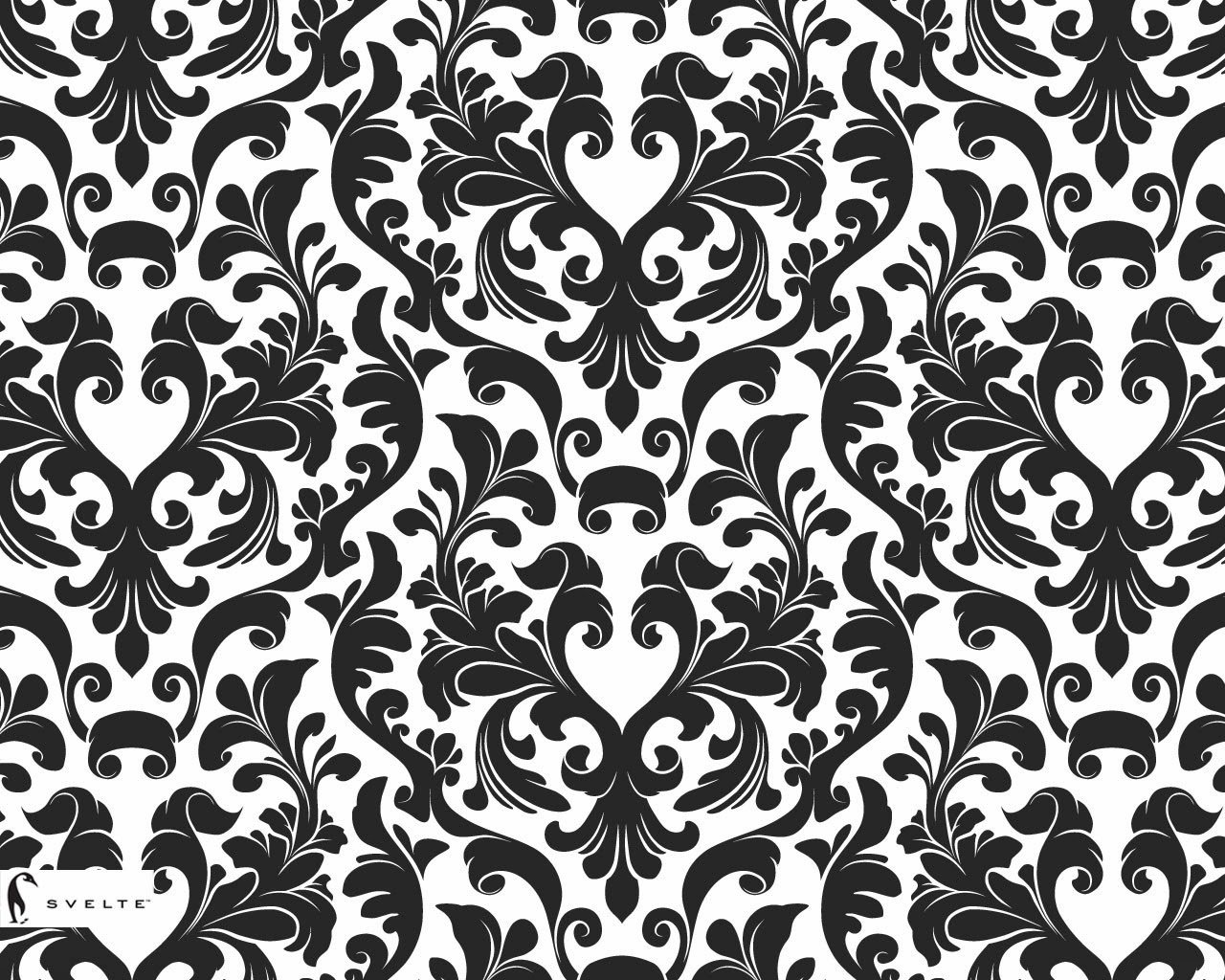 wallpaper black and white damask wallpaper black and white damask 1280x1024