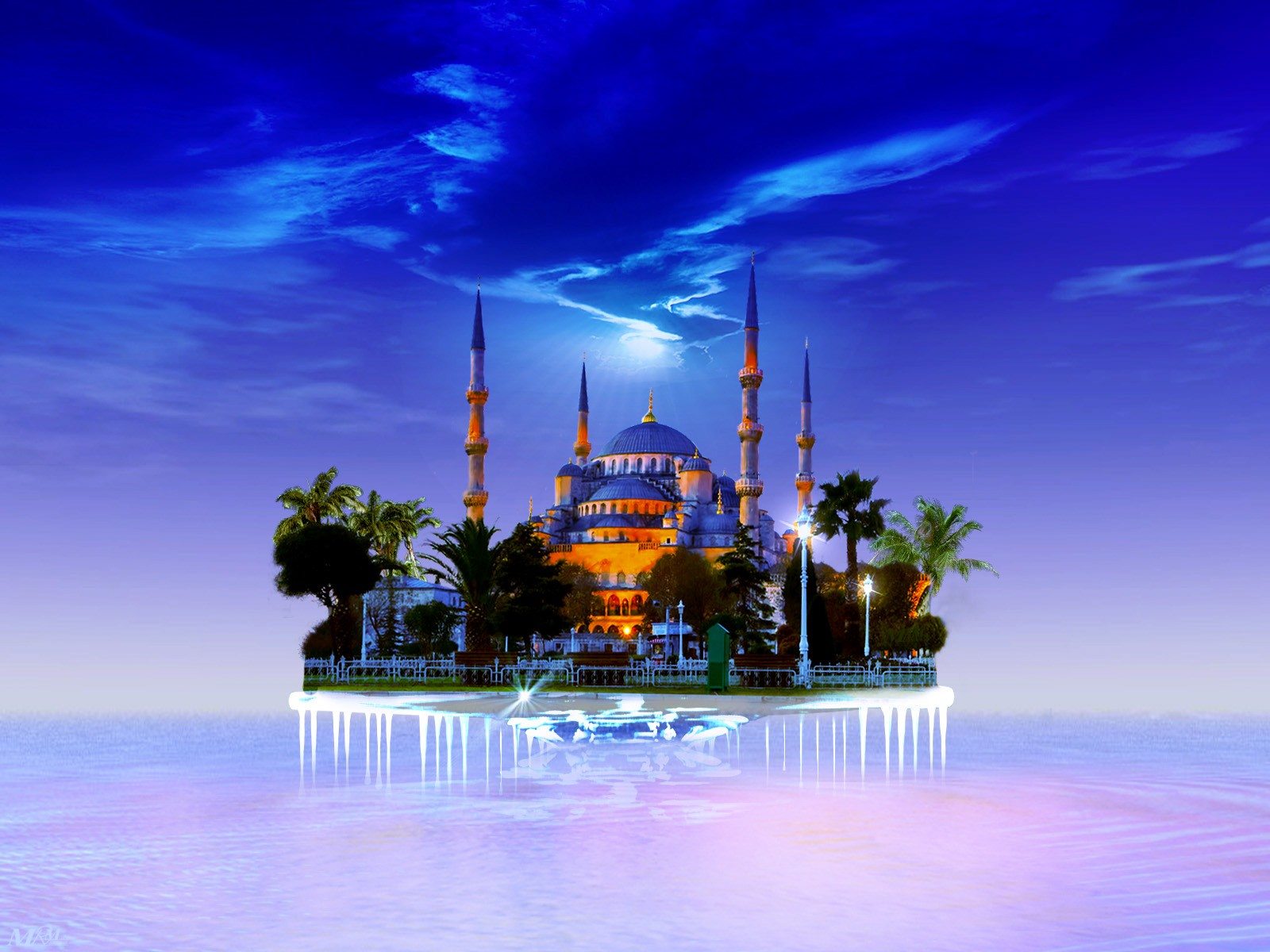 Heavenly Blue Mosque Turkey Wallpaper 35140 1600x1200
