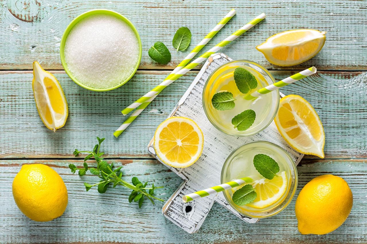 Wallpaper Foliage Sugar Lemonade Lemons Food 1280x853
