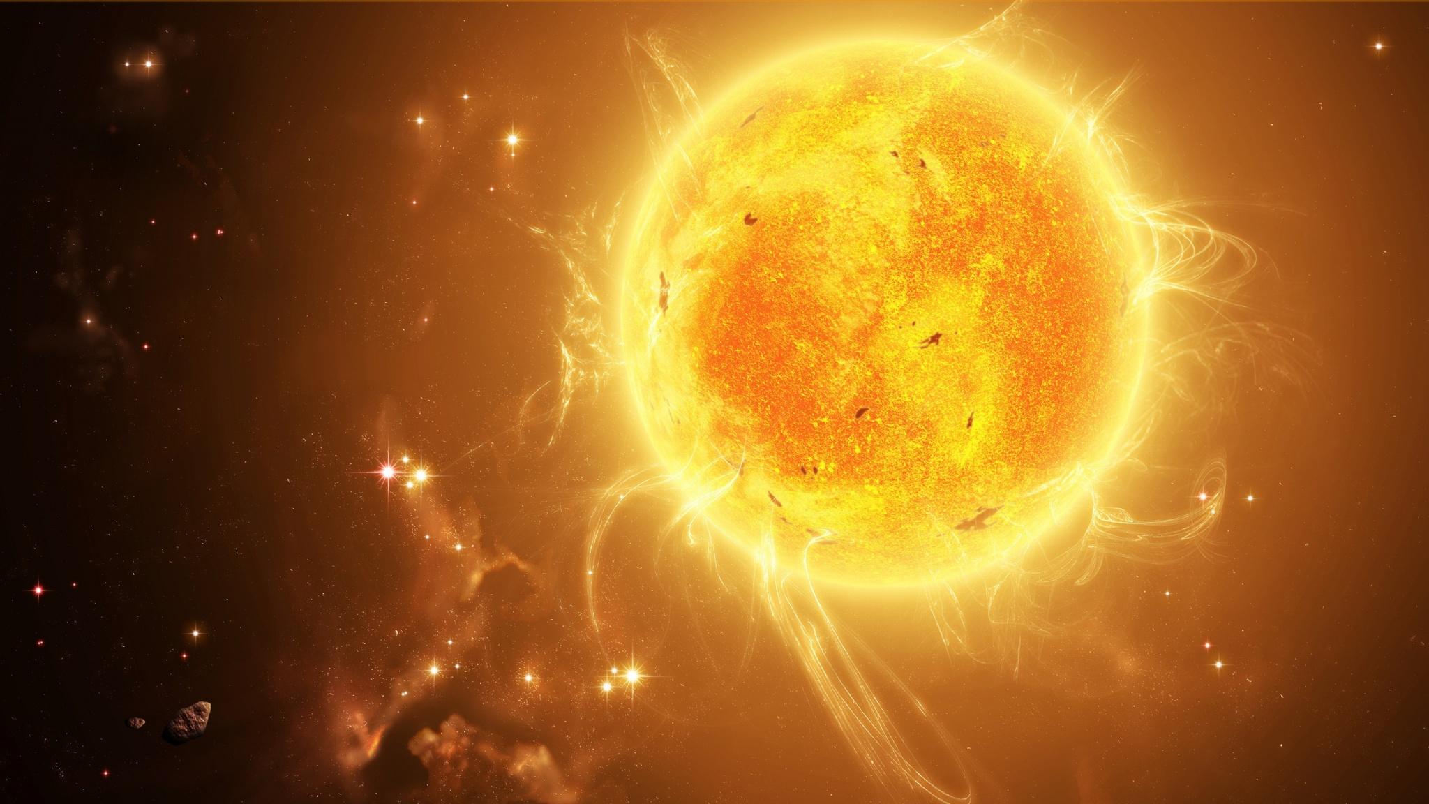 Space Sun 2048 x 1152 Download Close 2048x1152