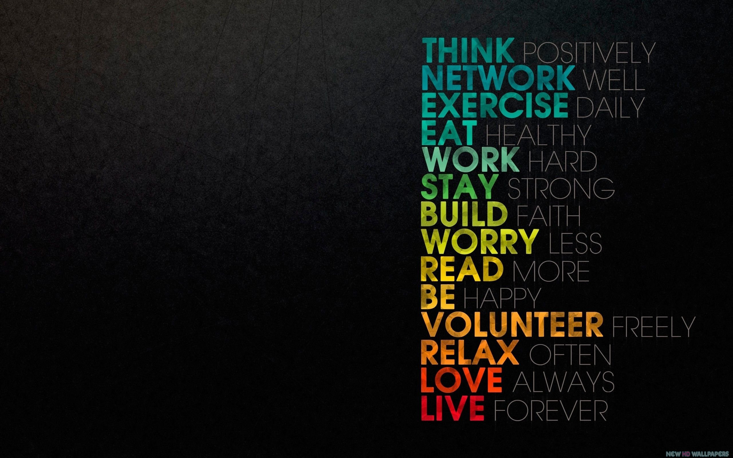 Think Psitively Inspirational Quotes   New HD Wallpapers 2560x1600