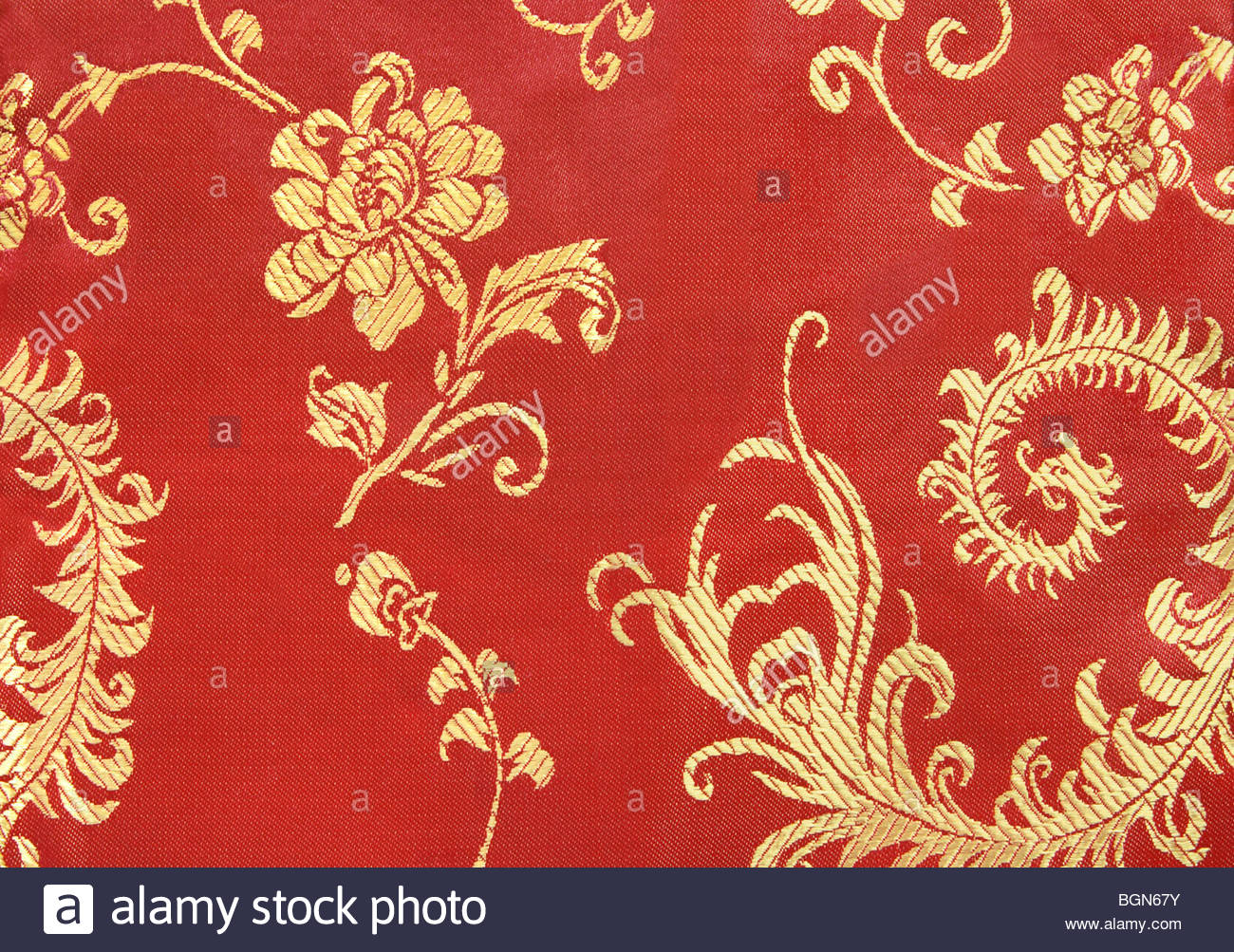 Chinese Red and Gold Textile Background Stock Photo 27510783   Alamy 1300x1003