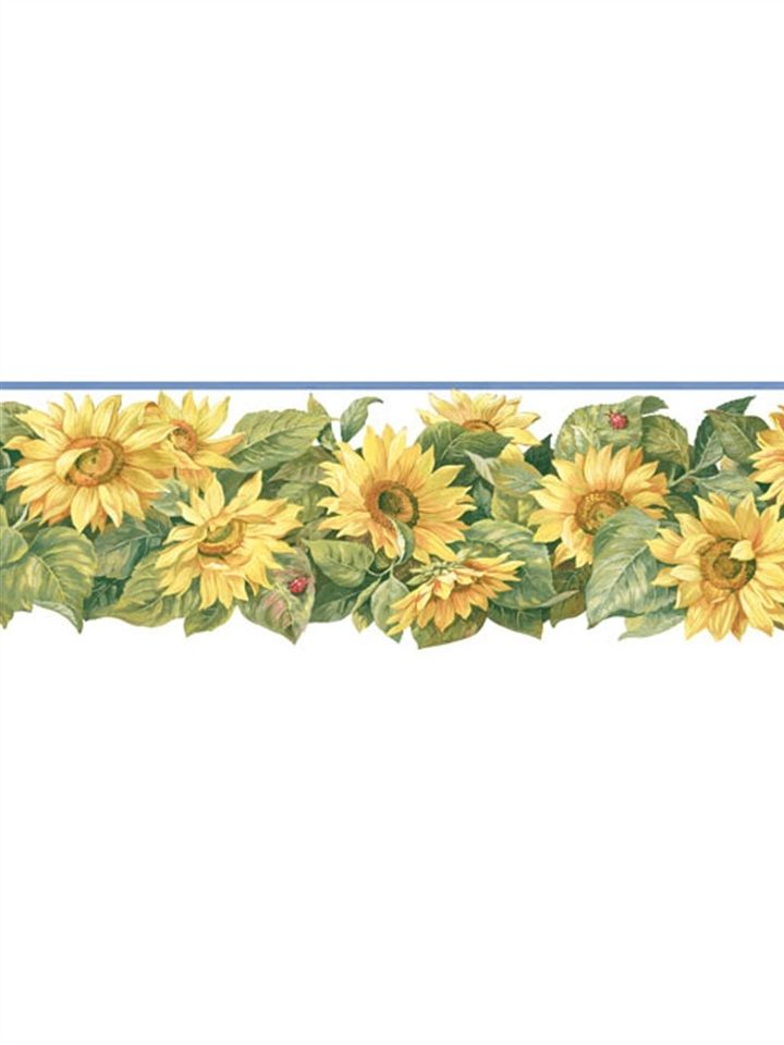 kitchen bath sunworthy sunflowers die cut wallpaper border kb206608d 720x960