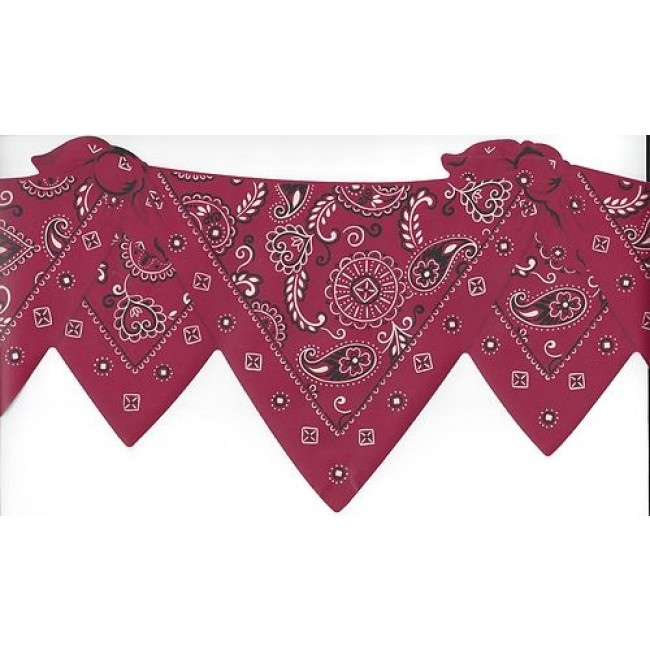 Red Bandana Scarf Swag Cowboy Western Laser Cut Wallpaper Border   All 650x650