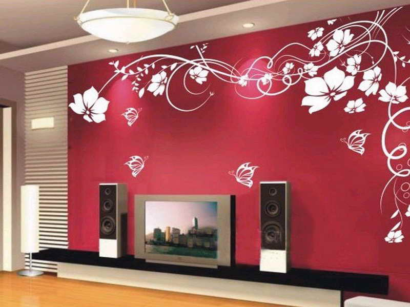 Beautiful Wallpaper For Walls Decoration With Red Wall Beautiful 800x599